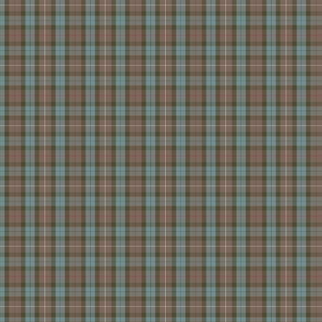 1/4 scale Fraser Hunting weathered tartan fabric by weavingmajor on Spoonflower - custom fabric