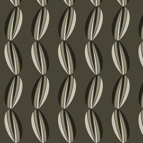 Graphic grey tulip