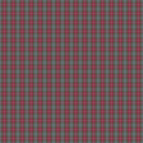 1:6 scale Fraser red weathered tartan fabric by weavingmajor on Spoonflower - custom fabric