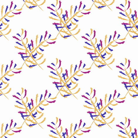 Betty Beagle's Crossed Plumes fabric by anniedeb on Spoonflower - custom fabric