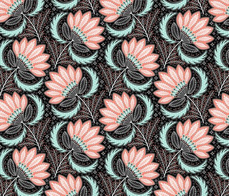 Rrfloral_of_coral__mint__black___white_print_ok_shop_preview