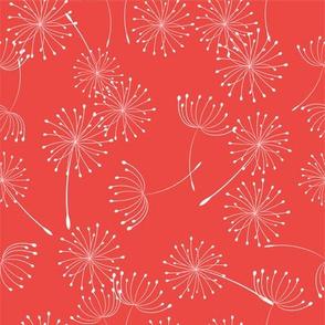 Wild Garden Dandelion Red