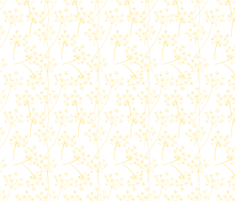 Wild Garden Queen Annes Lace Yellow fabric by diane555 on Spoonflower - custom fabric