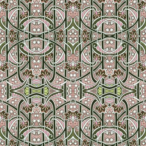 Cosmic Cornucopia Stripe fabric by edsel2084 on Spoonflower - custom fabric