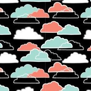 Mint/Coral Clouds