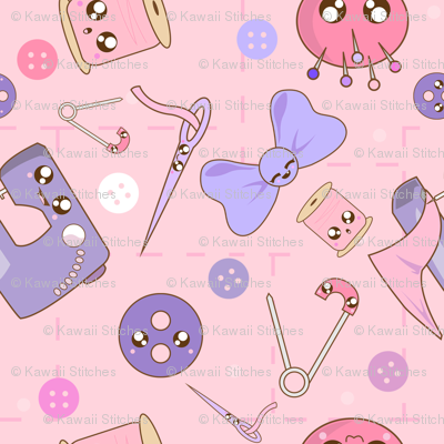Kawaii_sewing_fabric_preview