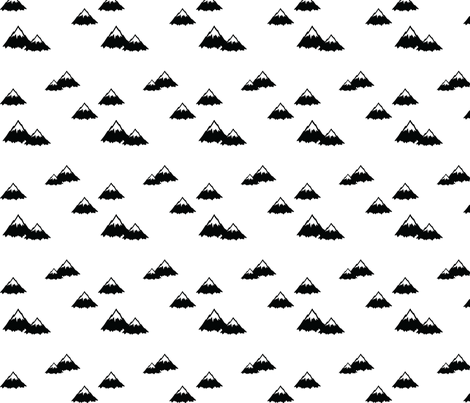 Mountains fabric by littlearrowdesign on Spoonflower - custom fabric