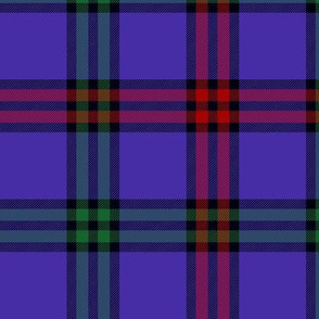 "Montgomerie tartan, 6"" red/green/blue-violet"