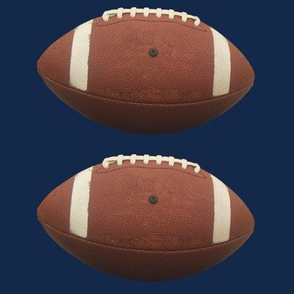 "6""  football on navy blue"