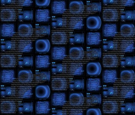 Jurassic DNA 07 fabric by lowa84 on Spoonflower - custom fabric
