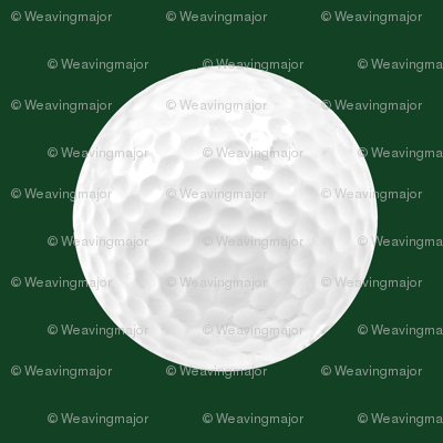 "1"" golf ball on forest green"
