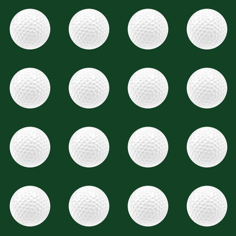 "1"" golf ball on forest green fabric by weavingmajor on Spoonflower - custom fabric"
