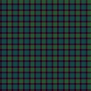 "mini Stewart old tartan, 1"", muted colors"