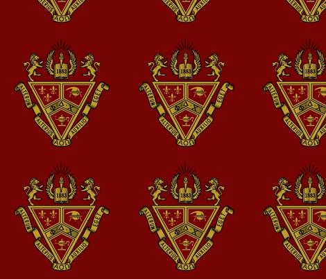 Phi Delta Chi Crest Fabric Nocodazole Spoonflower