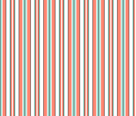 Beach Stripe - Coral fabric by inscribed_here on Spoonflower - custom fabric