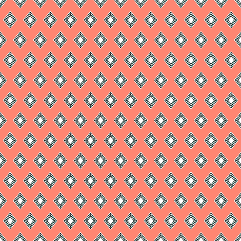 Girl's Best Friend Coral fabric by inscribed_here on Spoonflower - custom fabric