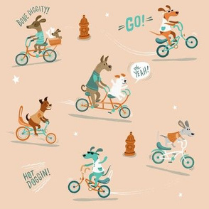 Dogs on bikes!