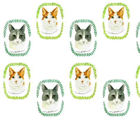 Cats fabric by taraput on Spoonflower - custom fabric