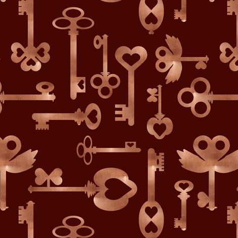Copper_keys fabric by modernfox on Spoonflower - custom fabric
