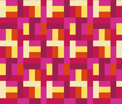 RECTANGLES_PINK fabric by mammajamma on Spoonflower - custom fabric