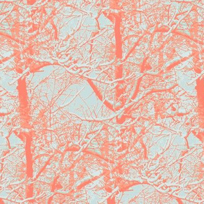 Coral and mint trees