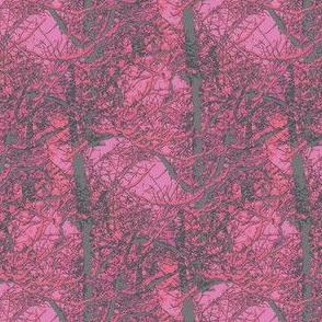 Magenta and Grey Trees
