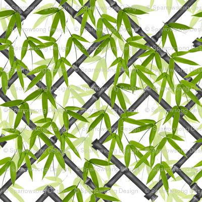Nantes Bamboo Trellis / Ebony