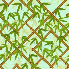 Nantes Bamboo Trellis in spring