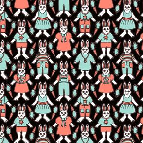 Rabbits Dressed Up