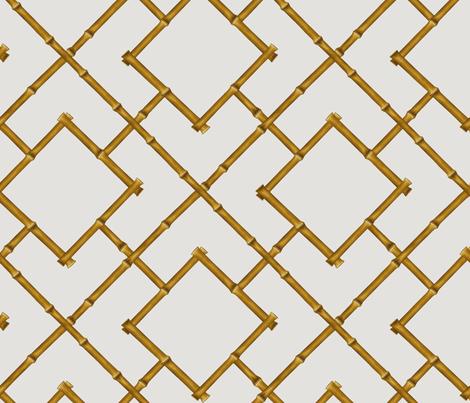 Osaka Bamboo Trellis in Tan fabric by willowlanetextiles on Spoonflower - custom fabric