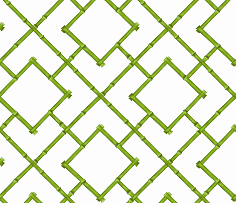 Trellis Fabric osaka bamboo trellis fabric - willowlanetextiles - spoonflower