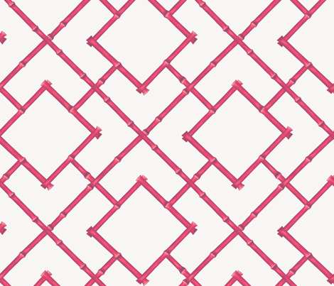 Osaka Bamboo Trellis in Fuschia fabric by willowlanetextiles on Spoonflower - custom fabric