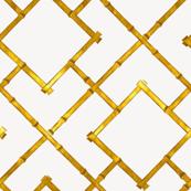 Osaka Bamboo Trellis / Gold Leaf