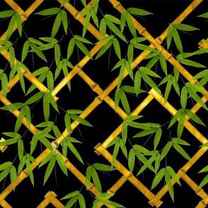 Nantes Bamboo Trellis / Gold Leaf