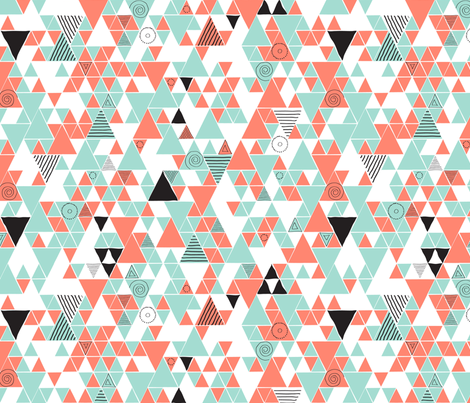Triangle Doodle fabric by thecharmingneedle on Spoonflower - custom fabric