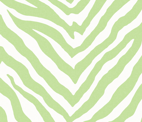 Large Scale Zebra in Spring Green 1 fabric by willowlanetextiles on Spoonflower - custom fabric