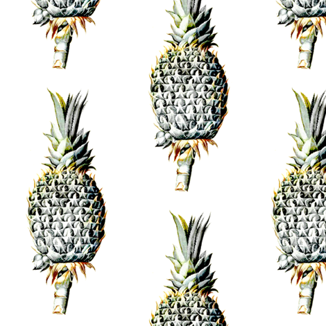 Vintage Pineapple fabric by willowlanetextiles on Spoonflower - custom fabric