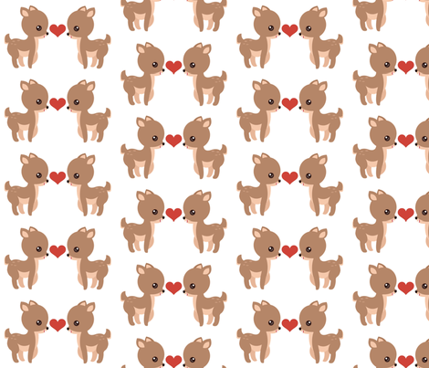Deer Love fabric by forthelove on Spoonflower - custom fabric