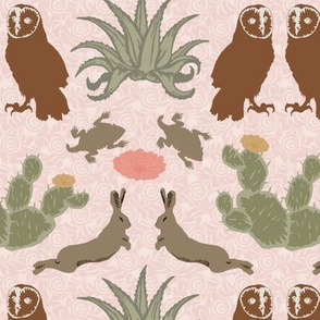 desert damask dusty blush