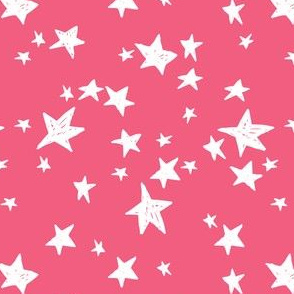 stars // french rose pink star fabric girls stars design