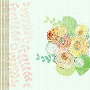 Mason Jar/Charming Gardner Quote Tea Towel