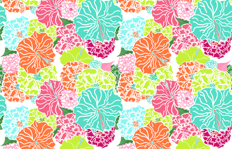 Tizzie's Garden fabric by lulabelle on Spoonflower - custom fabric