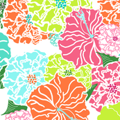 lilly pulitzer fabric wallpaper gift wrap Spoonflower