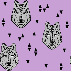 wolf // purple wolf kids room wolves lone wolf