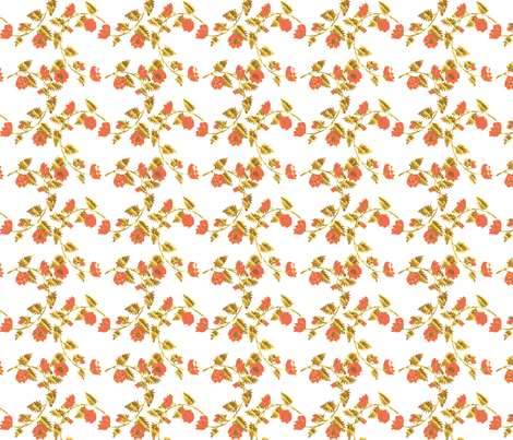 White Gold Chinoiserie Vines fabric by katebillingsley on Spoonflower - custom fabric