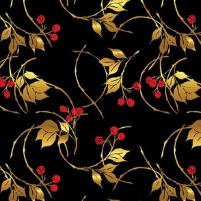 Black and Gold Blackberries