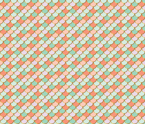 Luxe Pastel and Gold Scales fabric by katebillingsley on Spoonflower - custom fabric