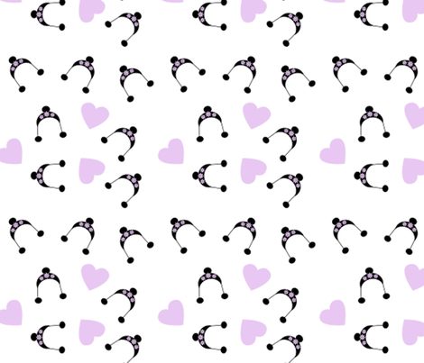 black hats fabric by violetheavensky on Spoonflower - custom fabric