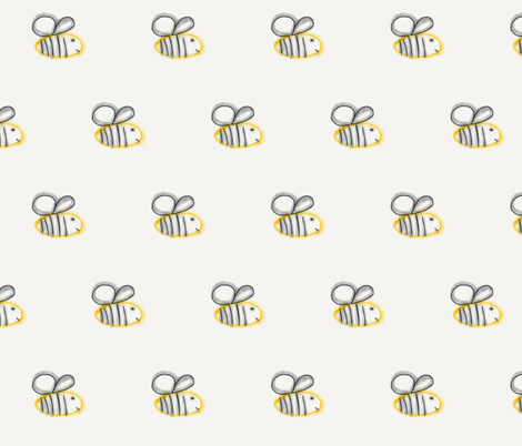 Bee Happy fabric by olivedesigns on Spoonflower - custom fabric