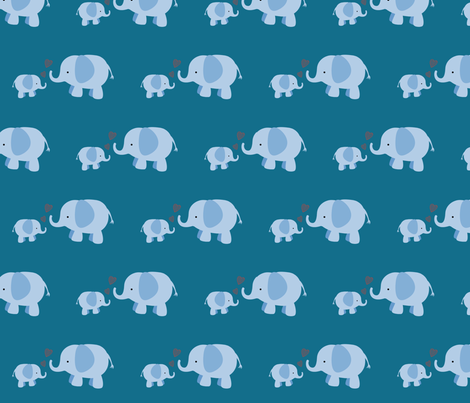 Parents Love: Elephants fabric by forthelove on Spoonflower - custom fabric